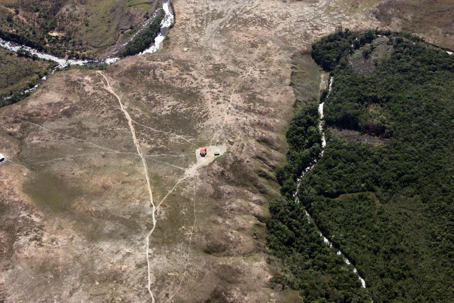 Манаус - Боа Виста - Санта Елена. Рорайма: вид сверху