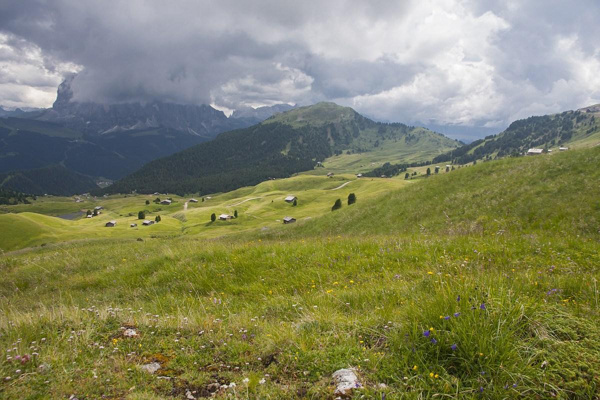 Пройтись днем Col Raiser- Fermeda-Seceda. Доломиты.