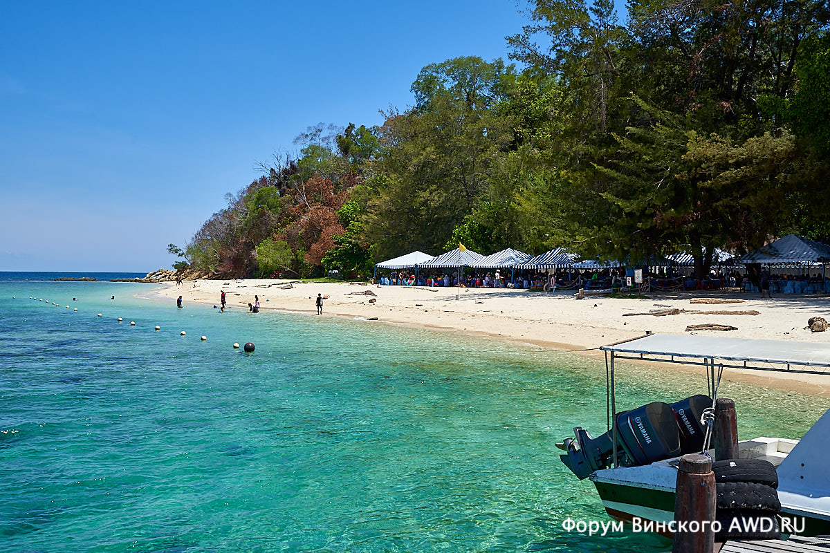 Острова рядом с Кота Кинабалу (Сабах) и пляжи на них