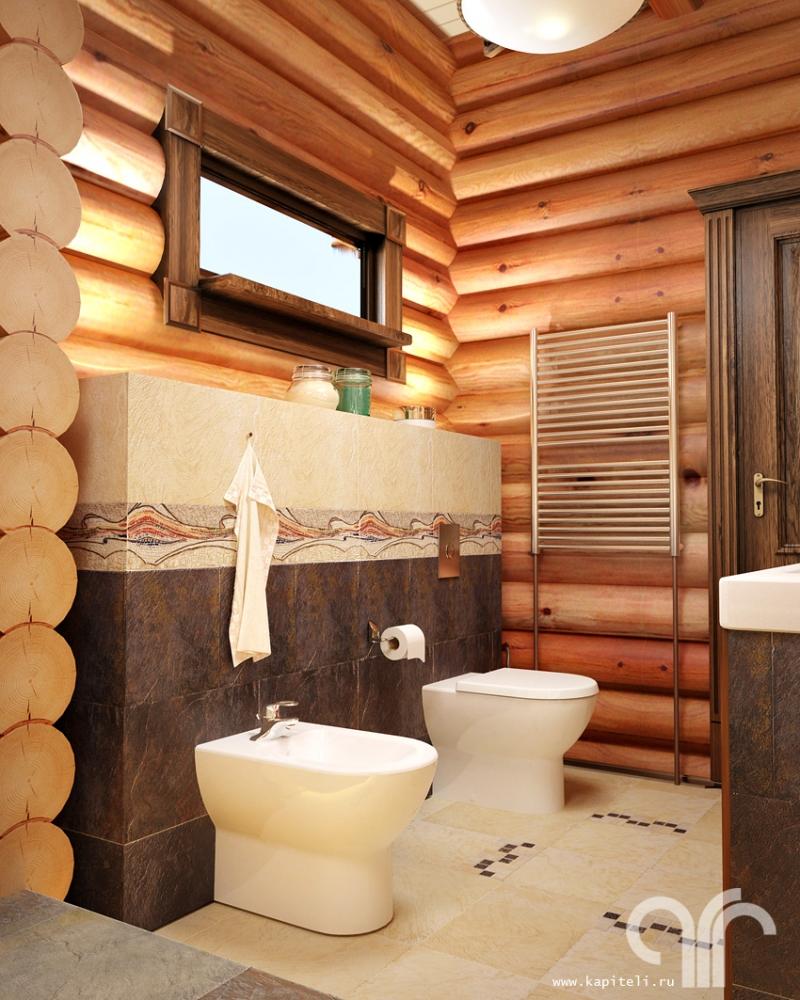 этом санузел в деревянном доме своими руками фото данный