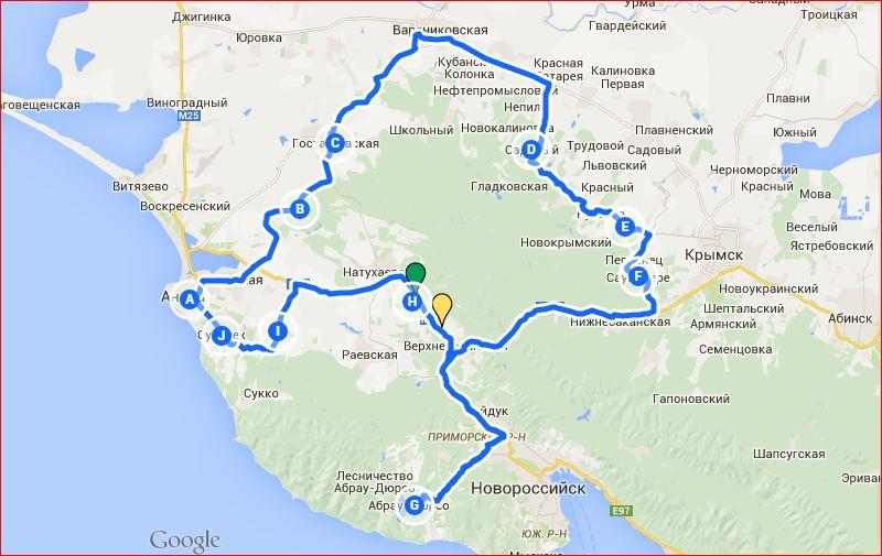 Итак, наш маршрут: Анапа-