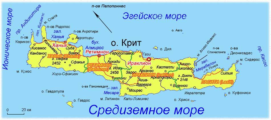 Крит_Ираклион_карта