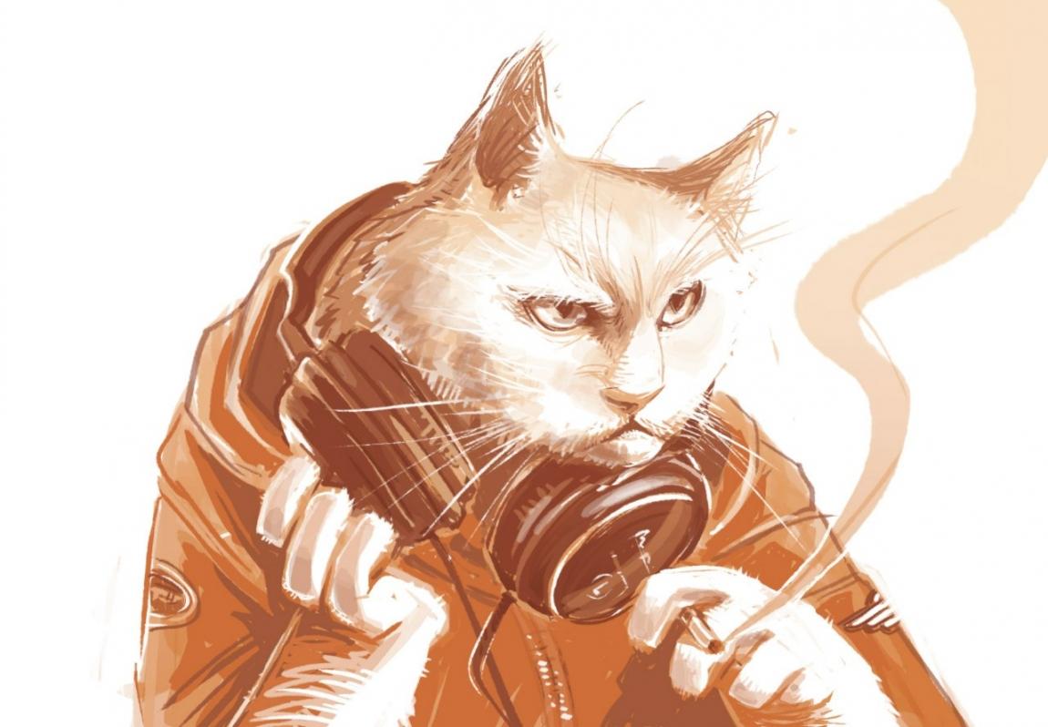 Годовщина революции, крутые рисунки с котом геймером