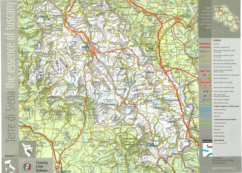 карта Кьянти