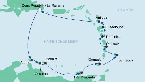 Пиратки Карибского моря в круизе по Малым Антильским островам, AIDAluna, декабрь 2013
