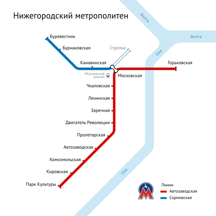 Схема метро Н.Новгород