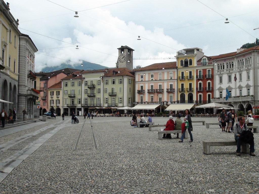 Обои Пейзаж, причалы, лодки, ticino, швейцария, дома, ascona, набережная. Города foto 19