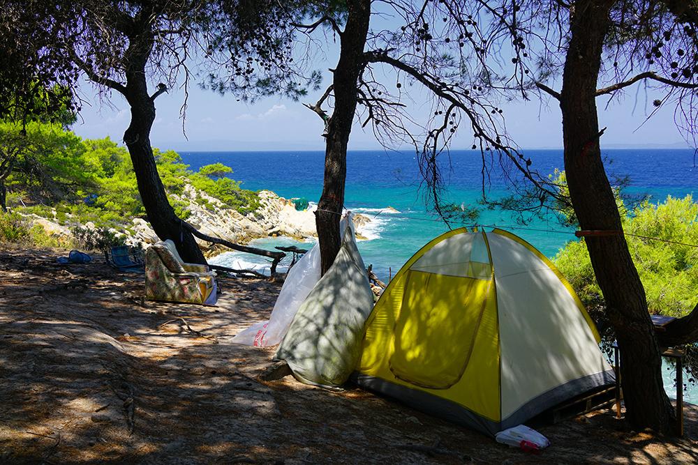 Дикий отдых в Греции, пляж Portokali Beach на Ситонии, Халкидики