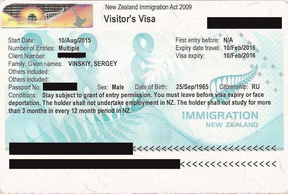 Виза в Новую Зеландию самостоятельно онлайн, через интернет
