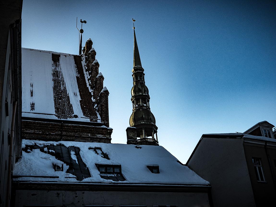 Латвия. Рождественская Рига. Январь 2016.