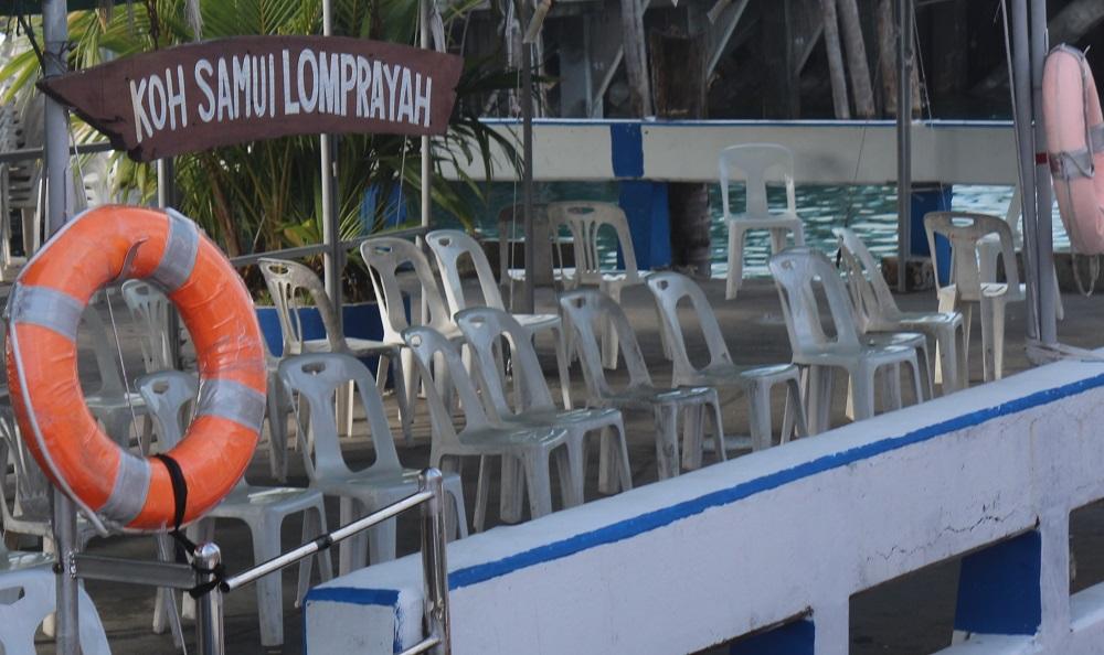 Круизная стоянка у острова Самуй, Таиланд, порт Натон Nathon