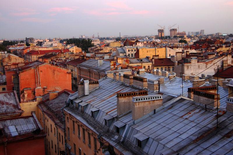 Крыши города фото