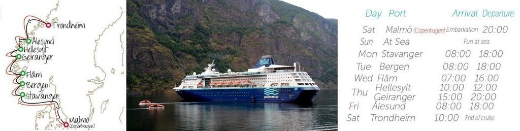 Западная Скандинавия с круизом на Pullmantur Empress в августе 2013