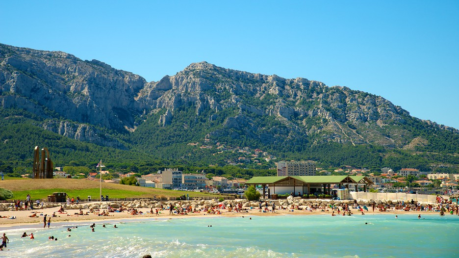 марсель фото города и пляжа завитки