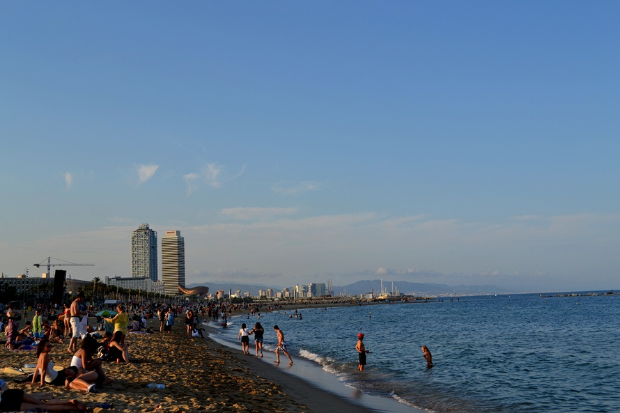 Ла Манга через Барселону июль 2012. Пляжи и теннис.