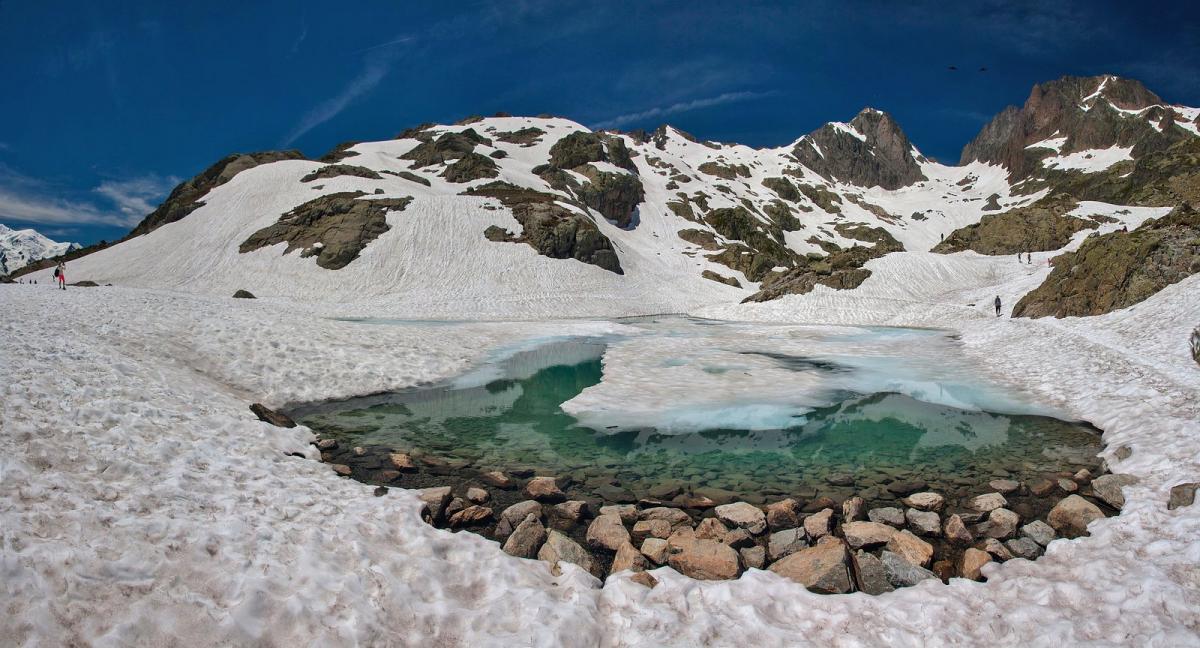 Блан: озеро и гора