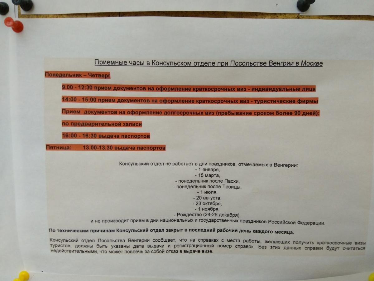 Письмо в консульство о выдаче венгермкой визы