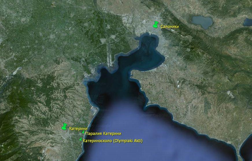 Сколько км от афин до салоников