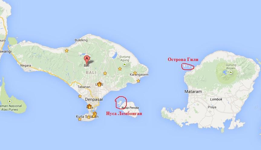 Бали на карте мира где находится фото