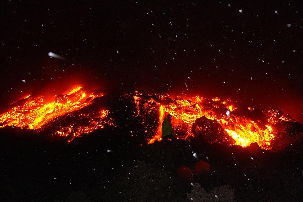 Камчатка. Извержение вулкана Толбачинский