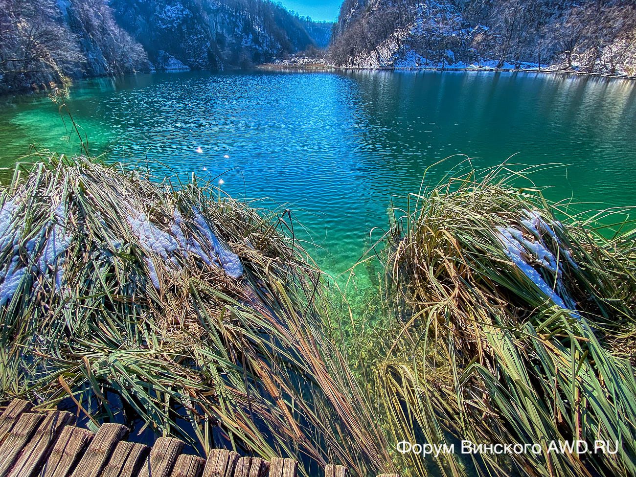 Плитвицкие озера зимой 2021