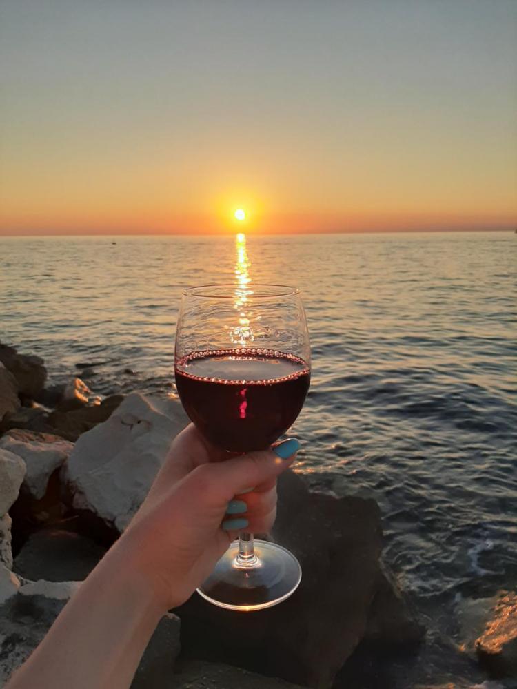 Вино и закат в Пиране фото Словения • Форум Винского