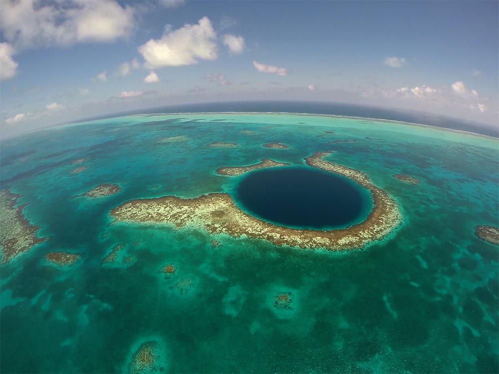 Большая голубая дыра в Белизе отзывы. На вертолете к Great Blue Hole