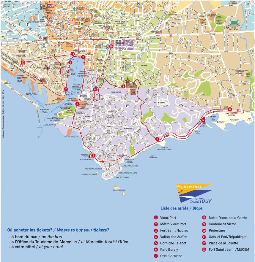 Карта маршрута туристик-баса